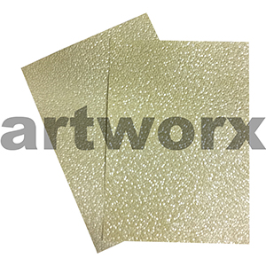 Lemon/Pale Yellow Sheen Pebble Paper A4 Embossed