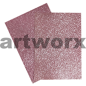 Rose Sheen Pebble Paper A4 Embossed