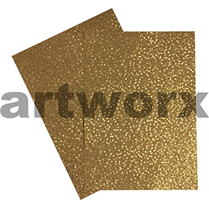 Gold Sheen Pebble Paper A4 Embossed