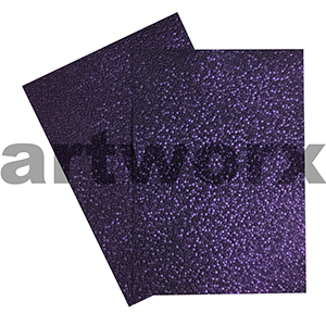 Violet Sheen Pebble Paper A4 Embossed