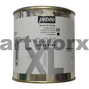 Titanium White XL Oil Paint Pebeo 650ml