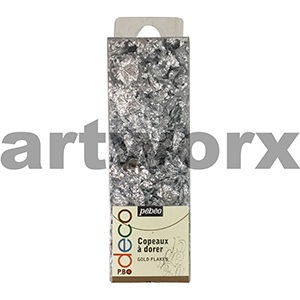 Silver Argent Pebeo Decor Flakes