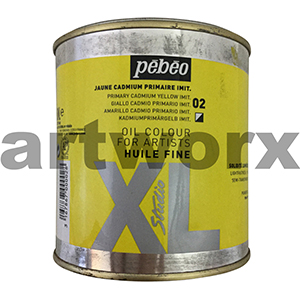 Primary Cadmium Yellow Imit XL Oil Paint Pebeo 650ml