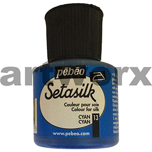 Cyan 45ml Pebeo Setasilk Paint