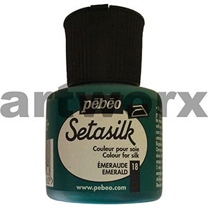 Emerald 45ml Pebeo Setasilk Paint