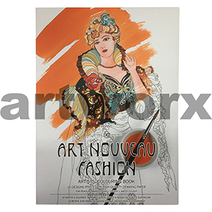 Art Nouveau Fashion Pepin Artist Coloring Book