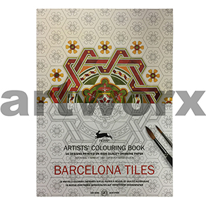 Barcelona Tiles Pepin Artist Colouring Book