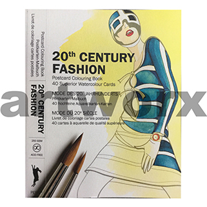 20th Century Fashion Pepin Postcard Artist Coloring Book