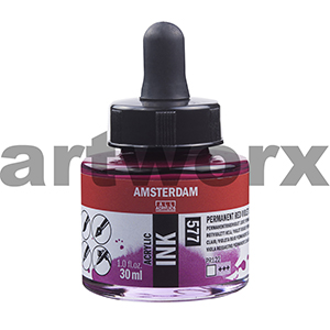 Permanent Red Violet Light 577 Amsterdam Acrylic Ink 30ml