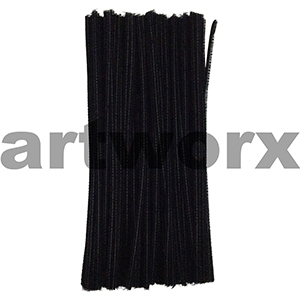 Colored Pipe Cleaners Black 100pk