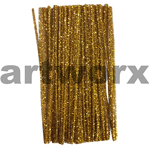 Colored Pipe Cleaners Metallic Gold 100pk