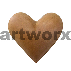 Plaster Heart Metallic Orange