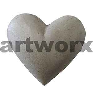 Plaster Heart Metallic White