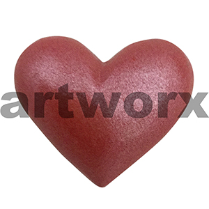 Plaster Heart Red Metallic