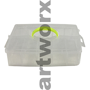 1 Layer Plastic Art Tool Box