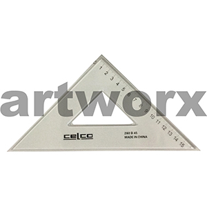 Celco Set Square 26cm 45 Degree