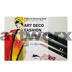 Art Deco Fashion Pepin Postcard Artist Coloring Book