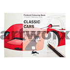 Classic Cars Pepin Postcard Artists Coloring Book