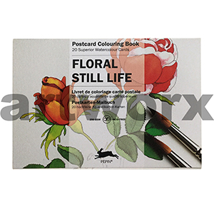 Floral Still Life Pepin Postcard Artists Coloring Book