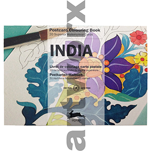 India Pepin Postcard Artists Coloring Book
