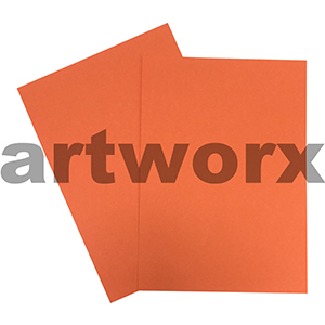Orange 200gsm 510x640mm Cardstock 20 Sheets