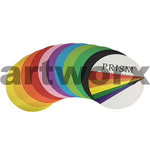 180mm Assorted Coloured Sheets Prism Circles