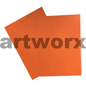 Orange 255x30mm 125gsm 500 Sheet Ream Prism Cover Paper