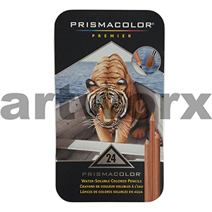 Prismacolor Water Soluable Pencils Tin 24