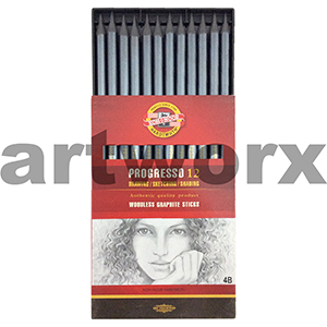 Progresso Woodless Graphite Sticks 4B Box 12