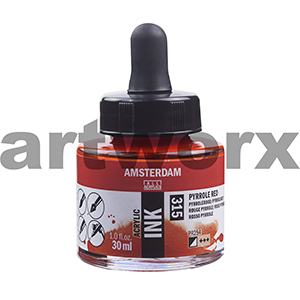 Pyrole Red 315 Amsterdam Acrylic Ink 30ml