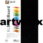 Black A3 210gsm Quill Cardstock
