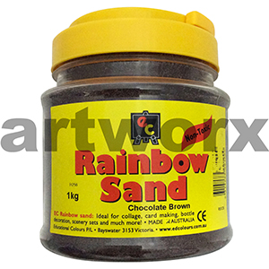 Chocolate Brown 1kg Coloured Sand