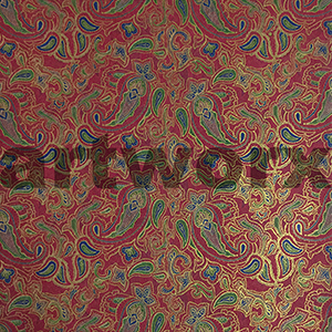 Red Paisley Japanese Rice Paper 50x75cm