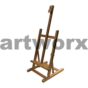 Reeves Surrey Table Top Easel - 60cm Max Canvas Height - Oiled Beechwood