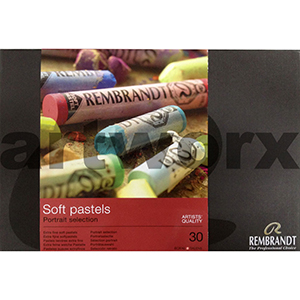 30pc Full Length Box Portrait Selection Rembrant Soft Pastels