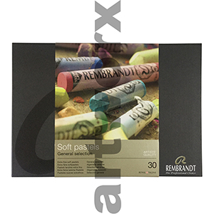 30pc Full Length Box General Selection Rembrant Soft Pastels
