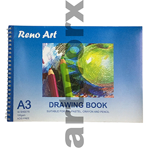 100gsm A3 30 Sheets Reno Art Drawing Book