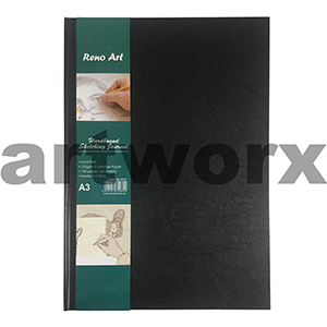 125gsm A3 64 Sheets Portrait Hardbound Sketching Journal