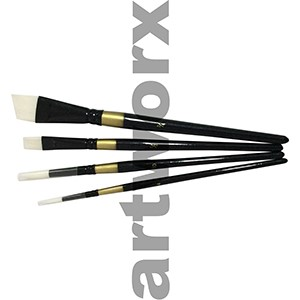 BS-108-4B White Taklon Paint Brush Set