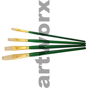 BS 706-4 4pce Hog Bristle Wooden Paint Brush Set