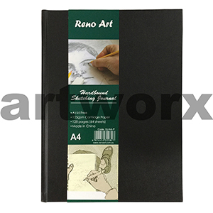 125gsm A4 64 Sheets Portrait Hardbound Sketching Journal