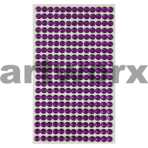 Rhinestone Stickers Purple