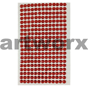 Rhinestone Stickers Red
