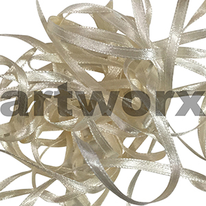 4mm Ivory double faced satin ribbon