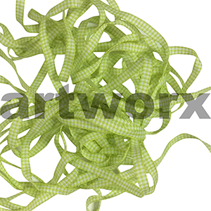 6mm Light Green Gingham Ribbon