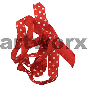 40mm Red Spotted Ribbon