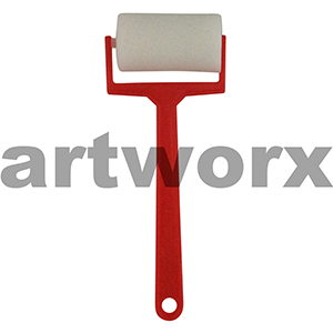 40mm Paint Roller Sponge Red Plastic Handle
