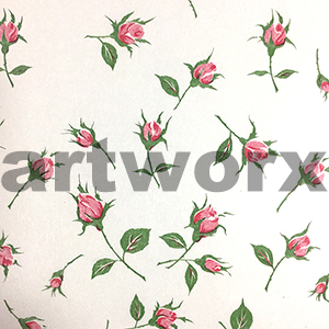 Rose Bud Red Japanese Rice Paper 50x75cm