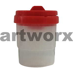 Red Safety Paint Pot