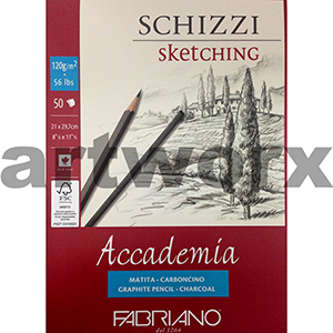 120gsm A4 50 Sheets Fabriano Accademia Schizzi Sketching Journal